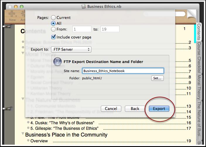 7. Export Your NoteBook