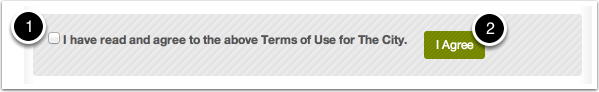 STEP 4: Agree to Terms of Use
