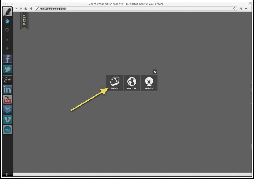Open Pixlr Express