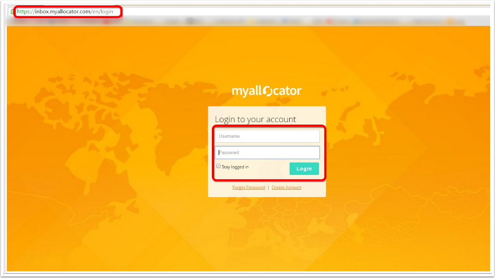 Login to your myallocator account