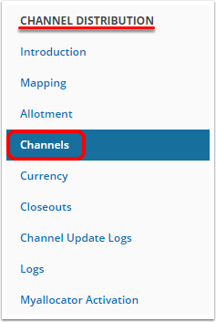Go to channel's setup
