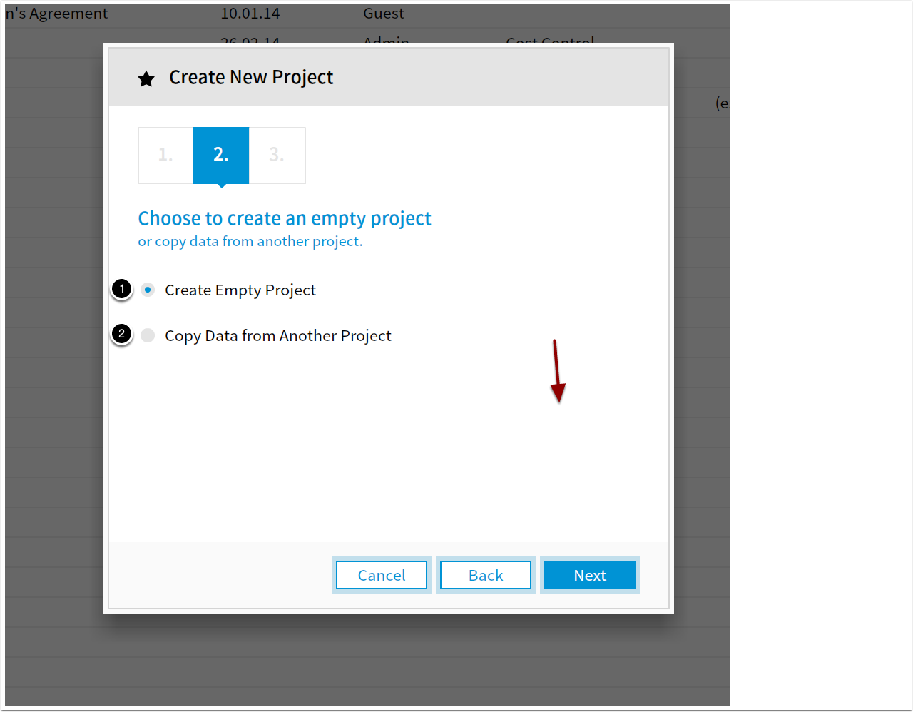 Start New Project Load A Template Apms