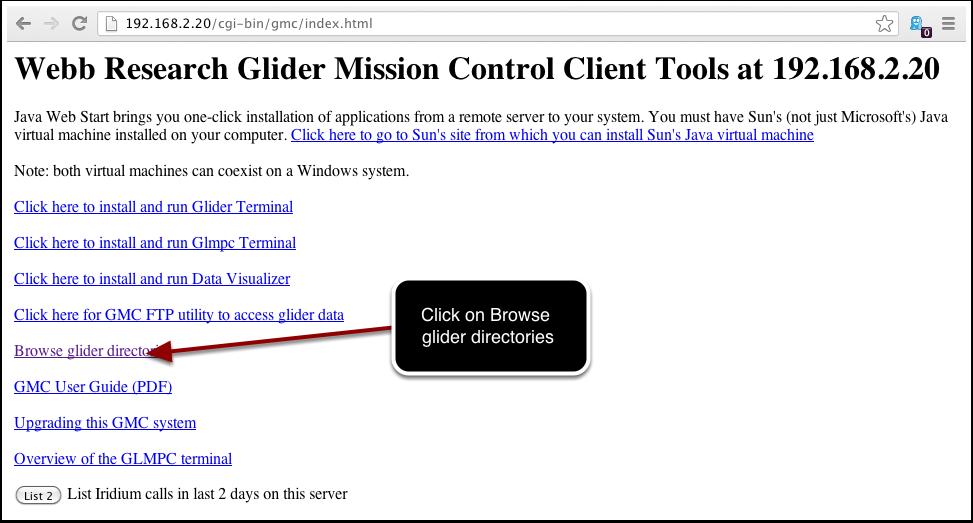 Client Tools at 192.168.2.20
