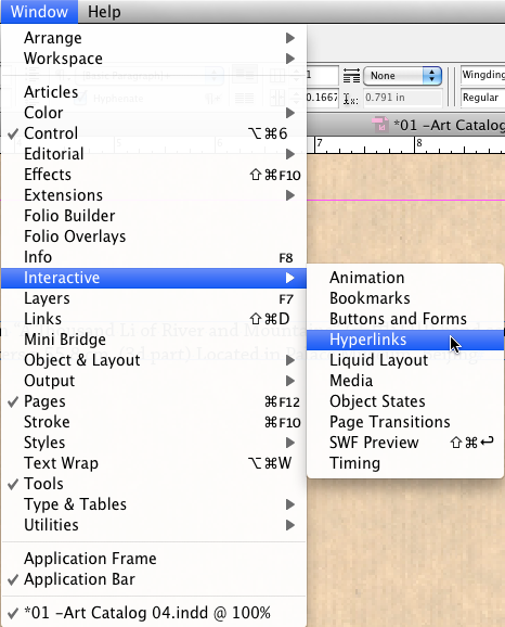 Adobe InDesign Hyperlinks