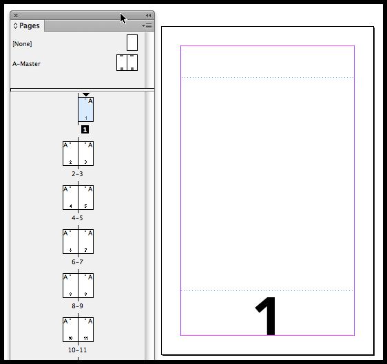 InDesign go to page 1