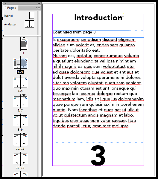 InDesign previous page number is wrong