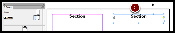 InDesign section markers