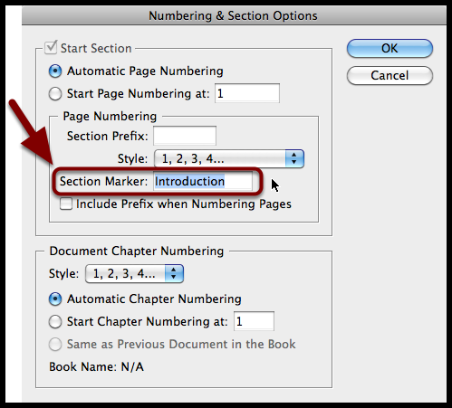 how to put page numbers on indesign