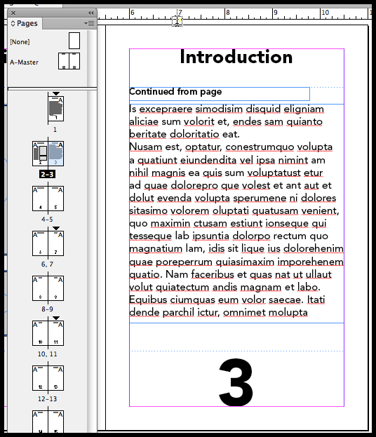 InDesign previous page number
