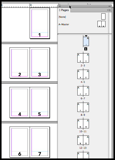 InDesign page numbers published to pages