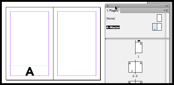 InDesign insert page number on master page