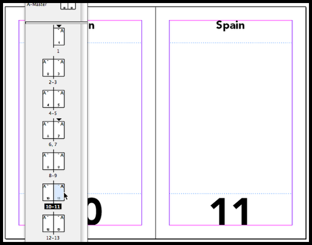 InDesign another section change