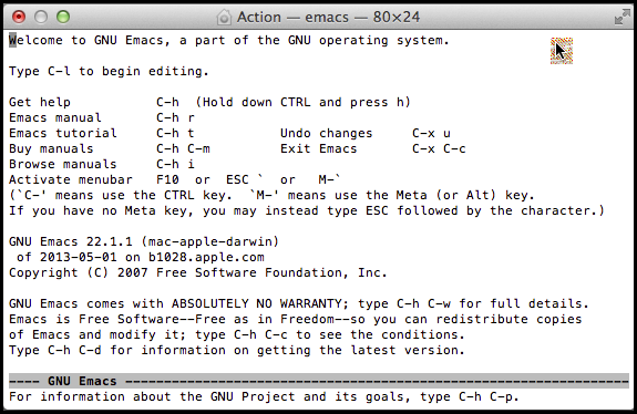 Welcome to GNU Emacs