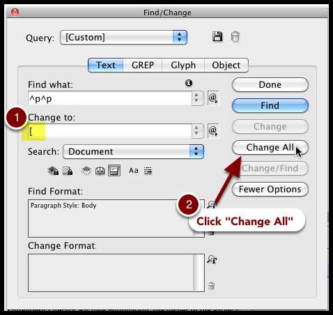 Find/Change