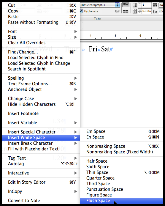 Separating a set of words: Method B: The Flush Space