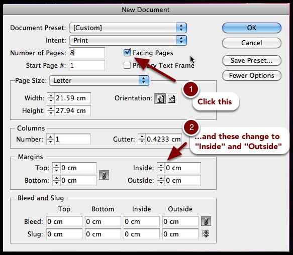 InDesign CS6 Margins: facing pages margins