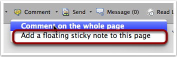 Add a Floating Sticky Note to a Page