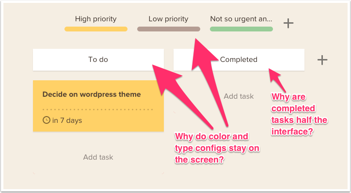 Interface elements seem unnecessary.