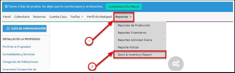 Acceder el reporte de Stock & Inventory