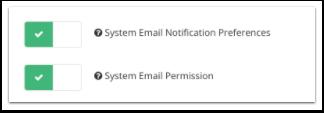 Usuarios: permiso agregado para la sección de correo electrónico