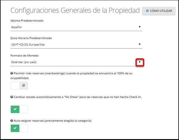 """Paso 2: Haga un clic en el menú desplegable de """"Formato de moneda de la aplicación"""""""