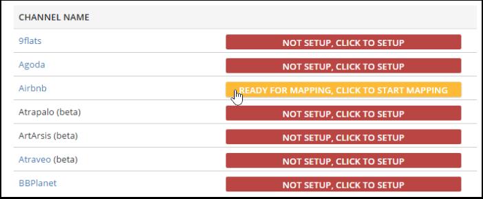 """Em seguida, vá até a seção de """"Mapeamento dos Canais (OTAs)"""" em suas configurações de distribuição"""