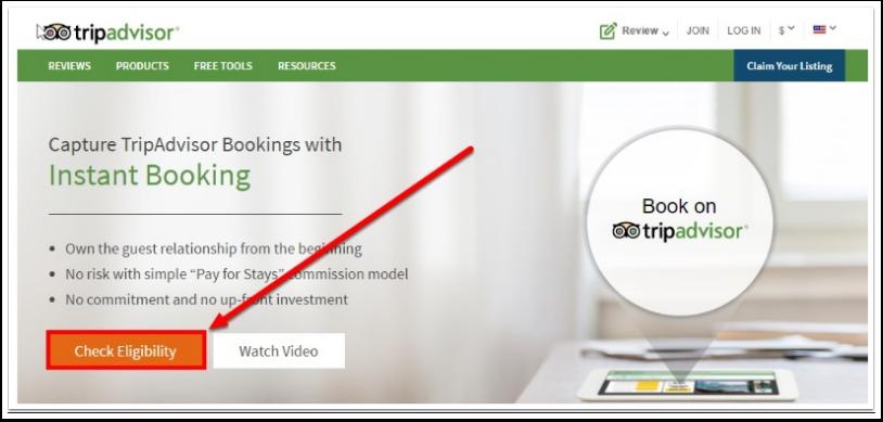 Passo 2: Se você ainda não tem uma conta no Tripadvisor Instantbooking, clique no link abaixo para configurar a sua propriedade com eles primeiro