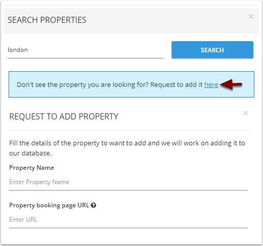 Si no aparece la propiedad que necesita, puede solicitarla.