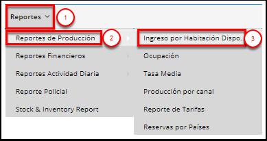 Acceso al informe y filtros