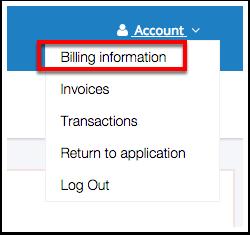 2. Select Billing Information