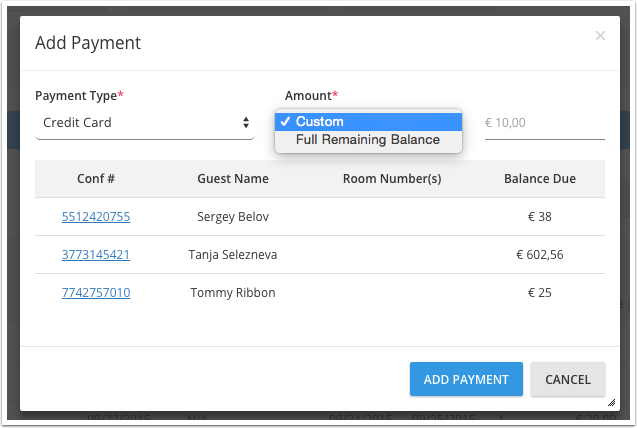 2.3 Add Payments
