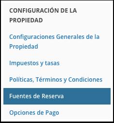 Navegue hasta Configuración de la Comisión
