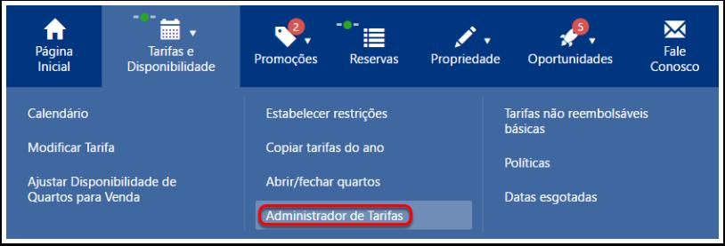 Planos tarifários / Administrador de Tarifas