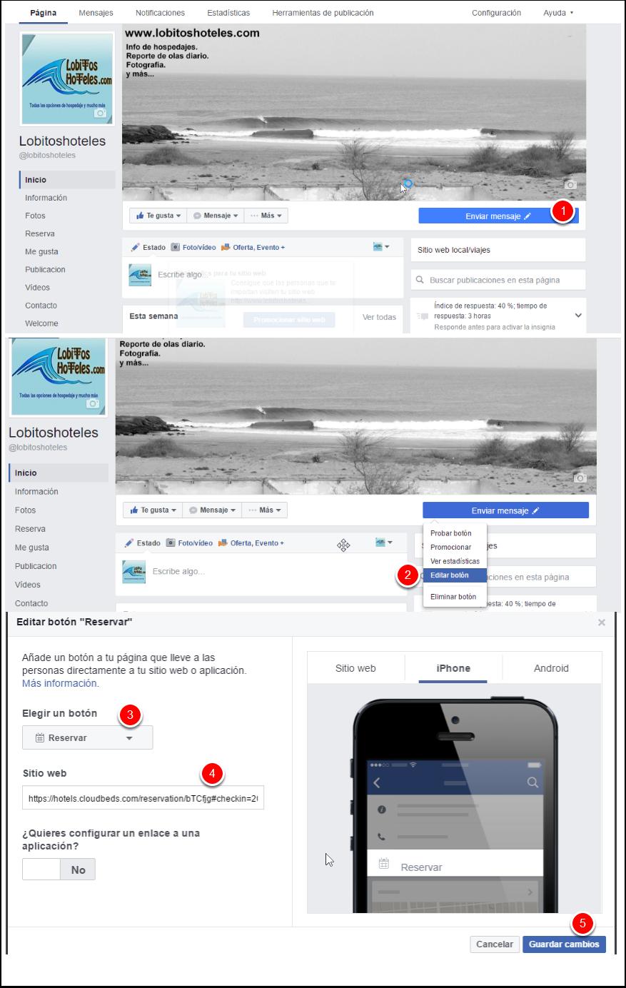 Accede a tu fan page en Facebook