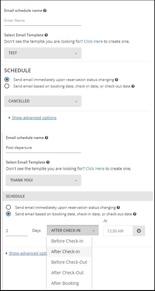 Agendamento de e-mail