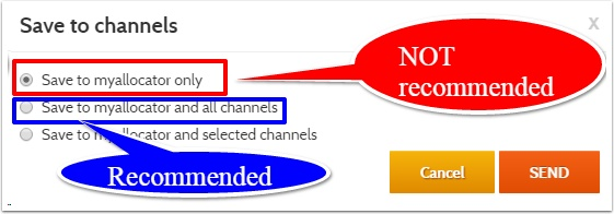 A Save or Full Refresh was made, but was only sent to certain Channels