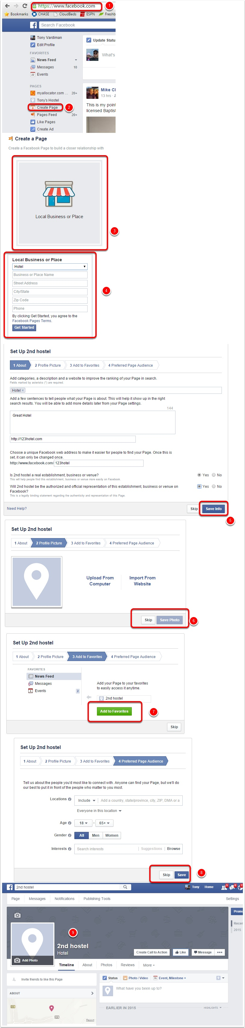 If you don't have a Facebook Fan Page setup