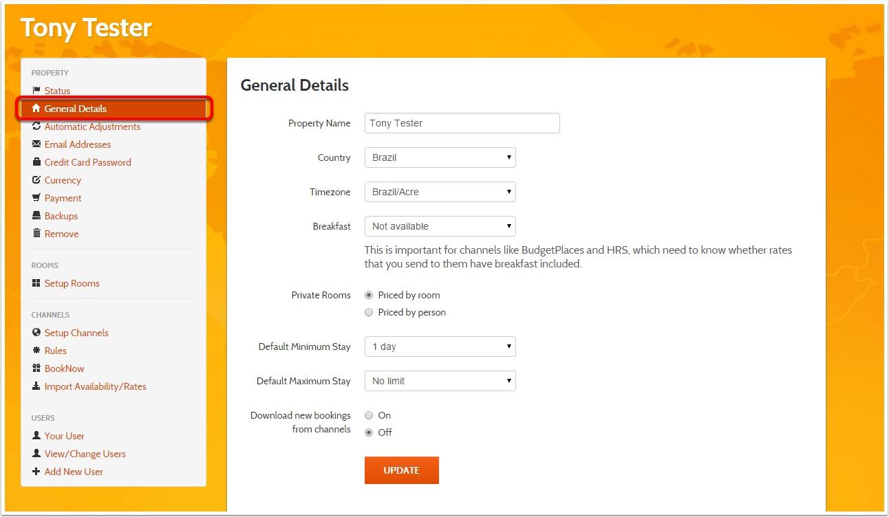 Step 2:  Click General Details
