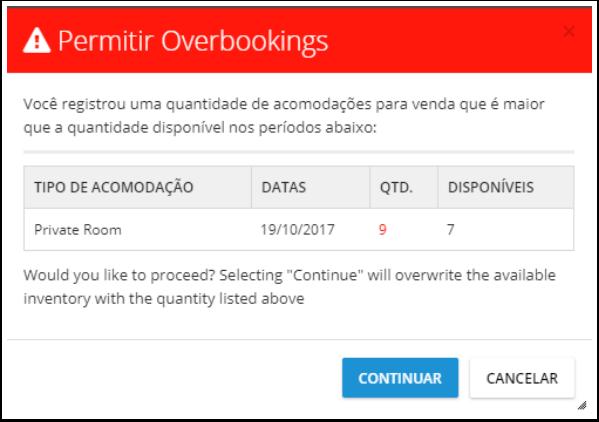 9 - Aviso de Overbooking