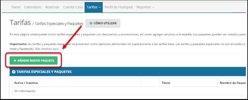 Paso 3: Haz clic en + Añadir Nuevo Paquete