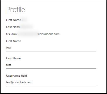 Editar nombre y correo electrónico del acceso