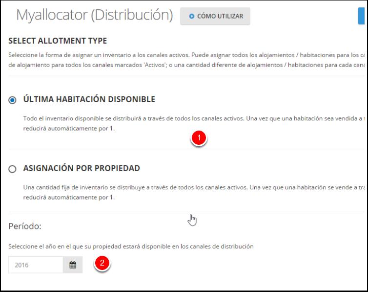 Elige tus configuraciones de Distribución