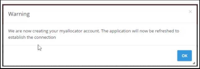 Myfrontdesk generará una cuenta en myallocator  basada en las configuraciones principales que has colocado en el sistema