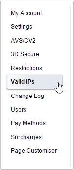 "Go to ""Valid IPs"""
