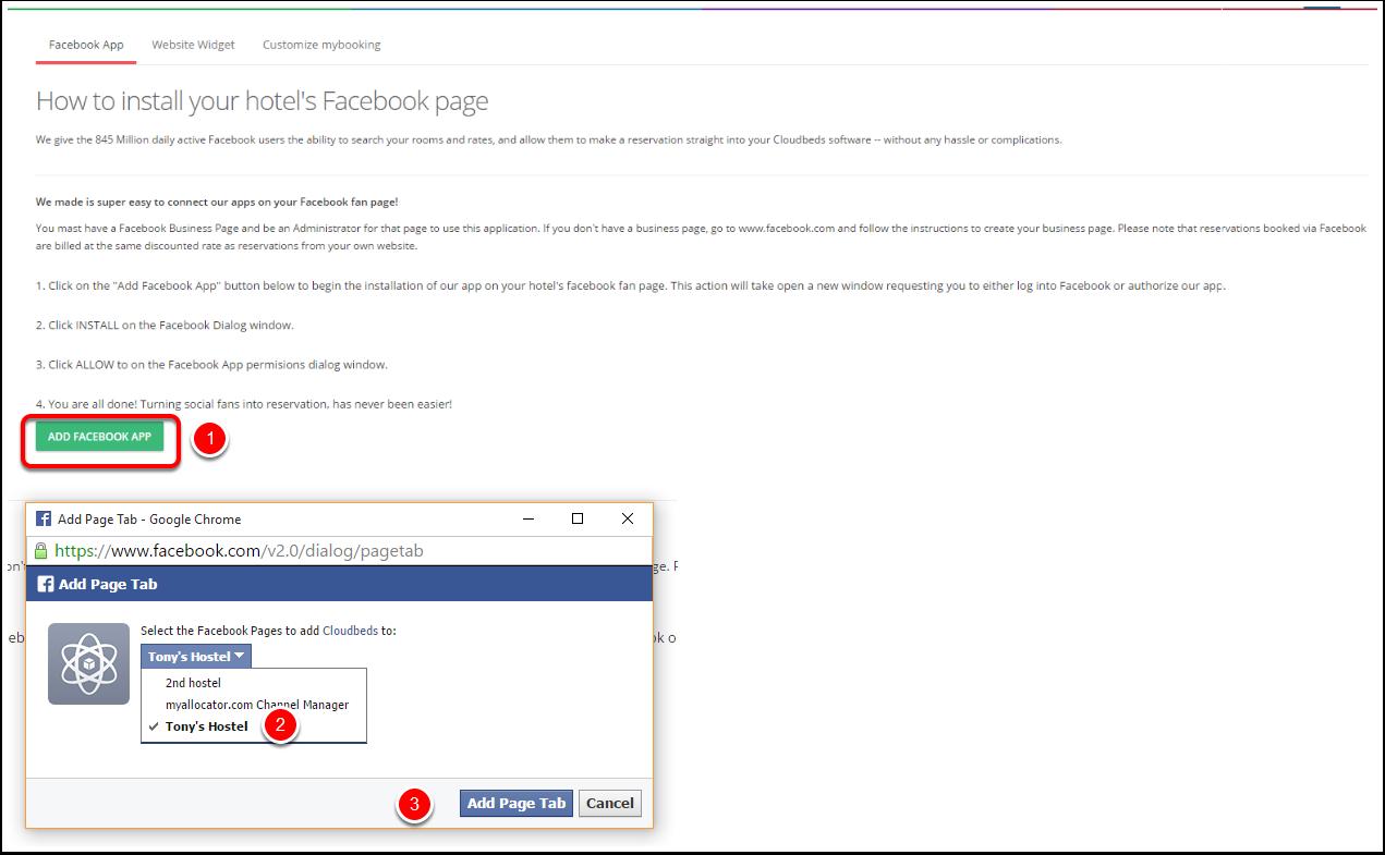 Step 2: Add the Facebook app