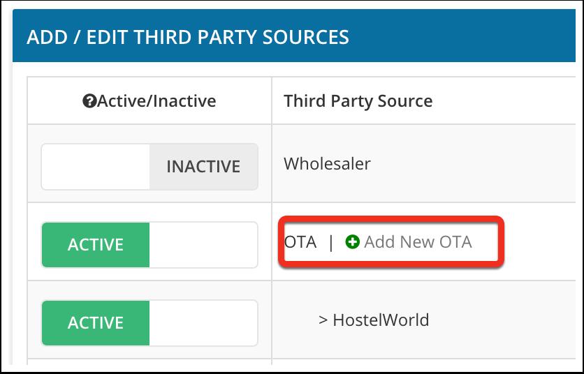 Click on Add new OTA