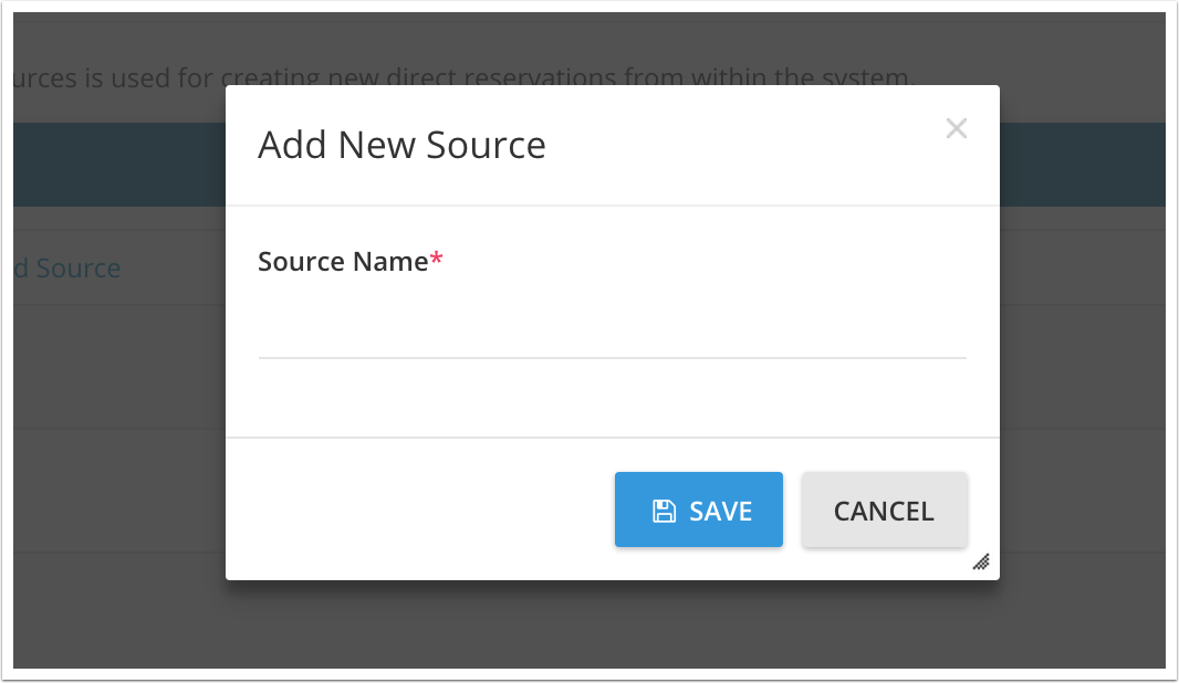 Enter manually the name of the source
