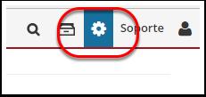 """1. Haga clic en el ícono de la rueda """"administrar"""" para ir al menú de configuración y navegar a la página Políticas"""