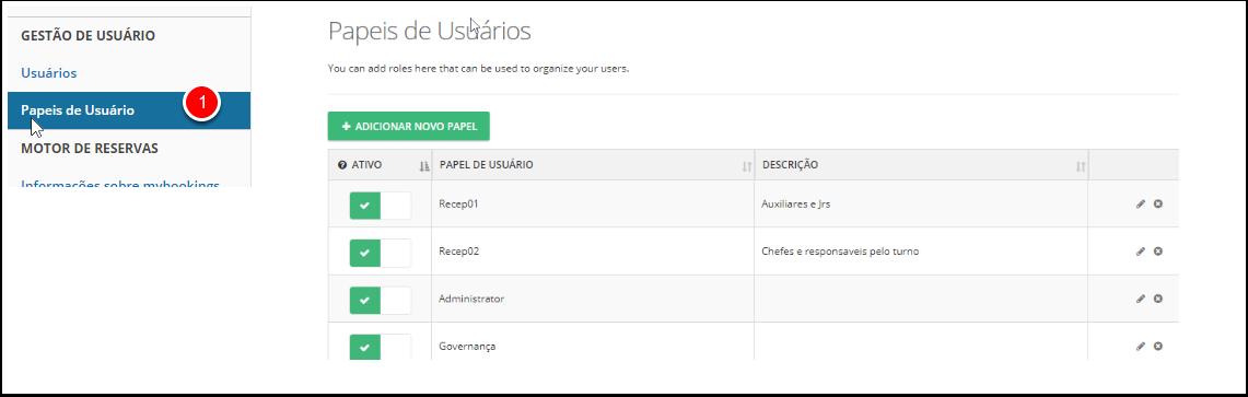 1. Para usuários de Myfrontdesk, exceto proprietário