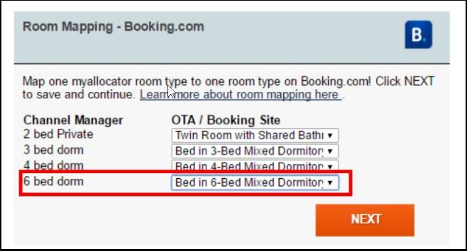 Mapeando las habitaciones compartidas entre myallocator y el canal/OTA